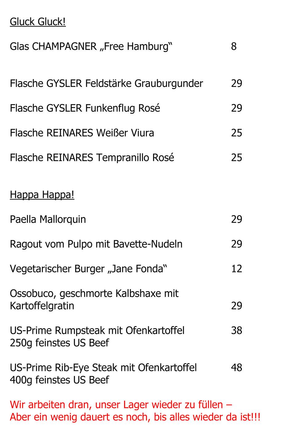 Speisenkarte - Lehmitz Weinstuben